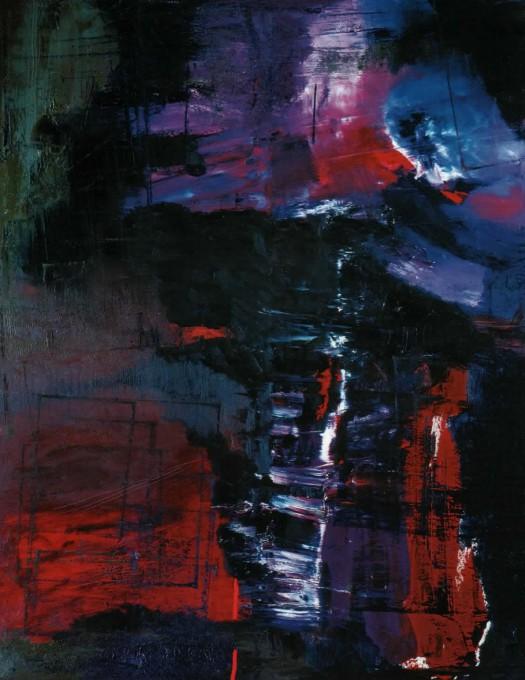 Cette nuit I. 2003, 150x120, oil on canvas